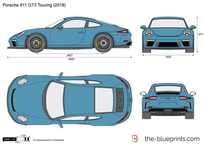Porsche 911 Gt3 Touring Vector Drawing