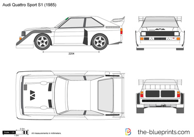 audi quattro sport s1 vector drawing. Black Bedroom Furniture Sets. Home Design Ideas