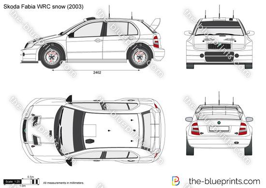 Skoda Fabia WRC snow