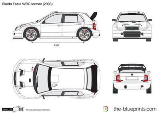 Skoda Fabia WRC tarmac