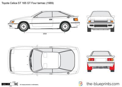 Toyota Celica ST 165 GT Four tarmac