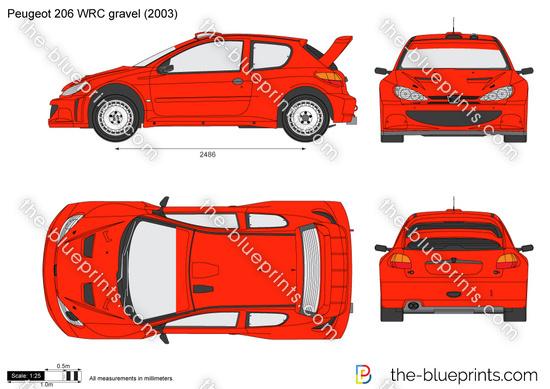 Peugeot 206 WRC gravel