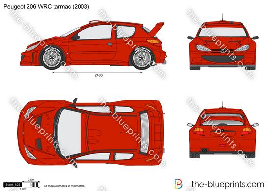 Peugeot 206 WRC tarmac