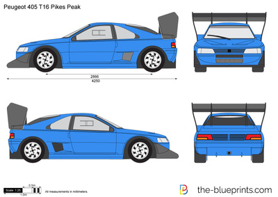 peugeot 405 t16 pikes peak vector drawing. Black Bedroom Furniture Sets. Home Design Ideas