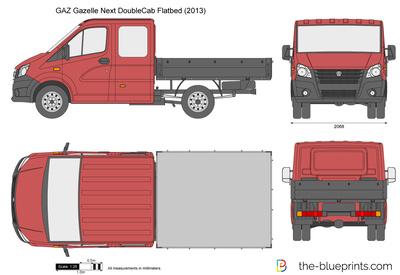 GAZ Gazelle Next DoubleCab Flatbed (2013)