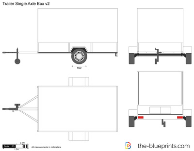 Trailer Single Axle Box v2