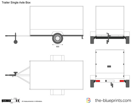 Trailer Single Axle Box