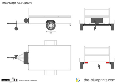 Trailer Single Axle Open v2
