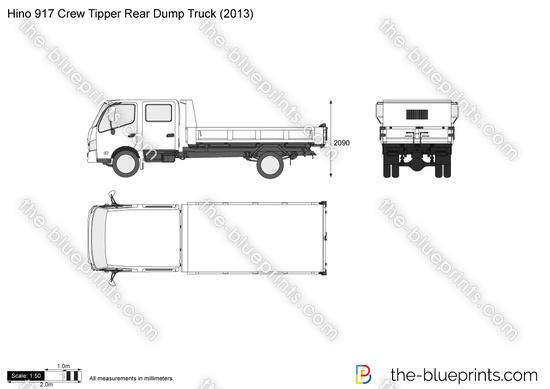 Hino 917 Crew Tipper Rear Dump Truck