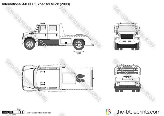 International 4400LP Expeditor truck