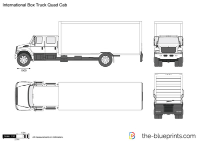 International Box Truck Quad Cab