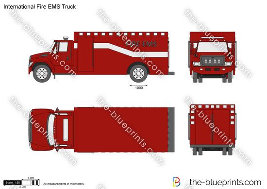 International Fire EMS Truck
