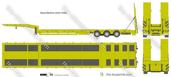 Heavy Machine carrier Trailer