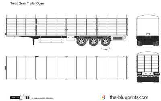 Truck Grain Trailer Open