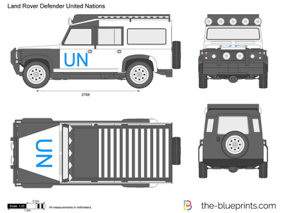 Land Rover Defender United Nations