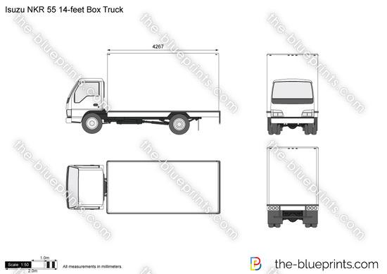 Isuzu NKR 55 14-feet Box Truck