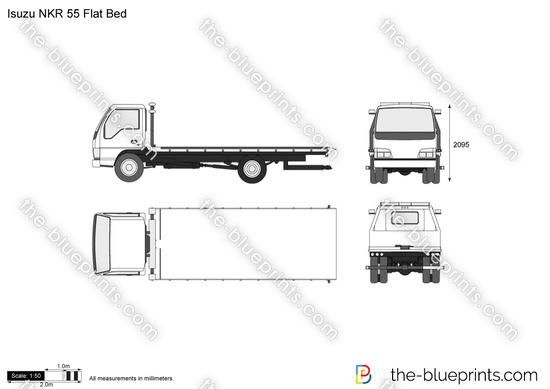 Isuzu NKR 55 Flat Bed