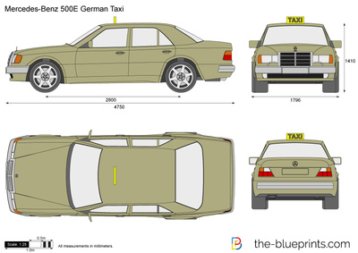 Mercedes-Benz 500E German Taxi