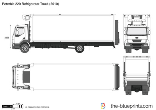 Peterbilt 220 Refrigerator Truck