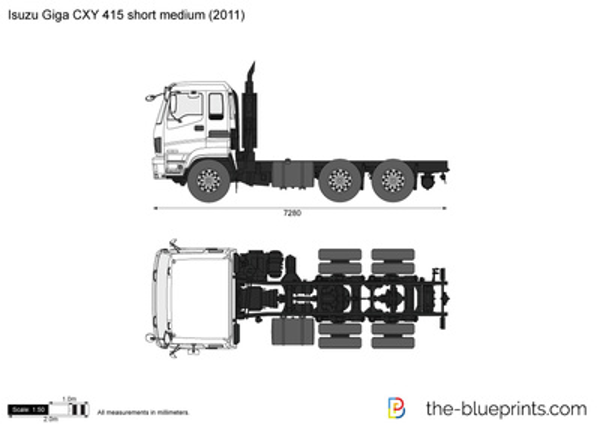 Isuzu Giga CXY 415 short medium