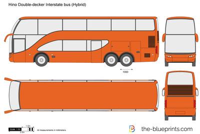 Hino Double-decker Interstate bus (Hybrid)
