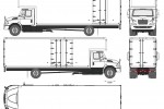 International Durastar 4700 Box Truck
