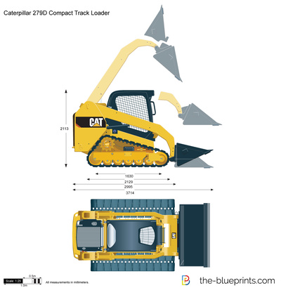 Caterpillar 279D Compact Track Loader