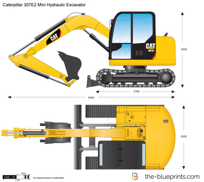 Caterpillar 307E2 Mini Hydraulic Excavator