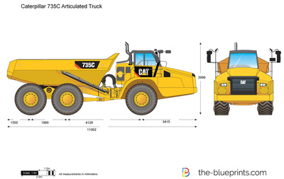 Caterpillar 735C Articulated Truck