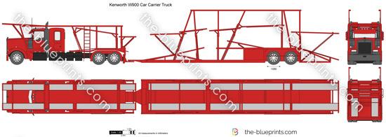 Kenworth W900 Car Carrier Truck
