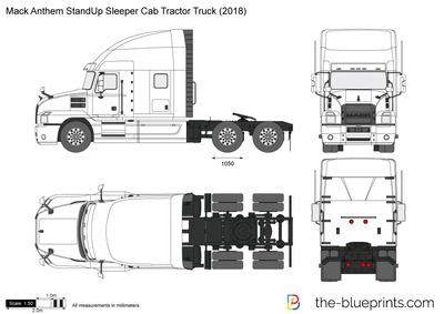Mack Anthem StandUp Sleeper Cab Tractor Truck (2018)