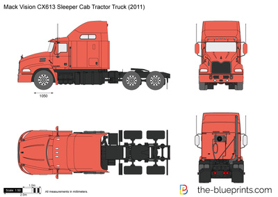 Mack Vision CX613 Sleeper Cab Tractor Truck