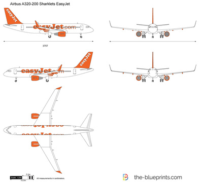 Airbus A320-200 Sharklets EasyJet