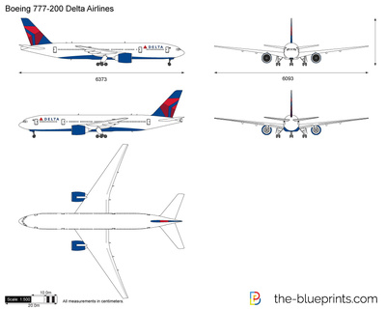 Boeing 777-200 Delta Airlines
