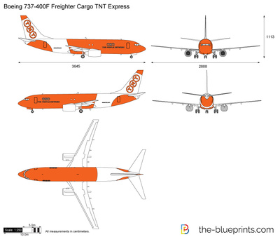 Boeing 737-400F Freighter Cargo TNT Express