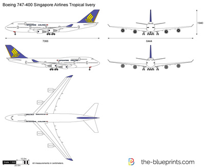 Boeing 747-400 Singapore Airlines Tropical livery