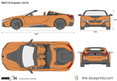 Bmw I8 Roadster Vector Drawing