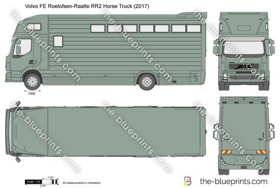 Volvo FE Roelofsen-Raalte RR2 Horse Truck
