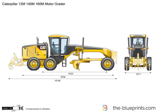 Caterpillar 12M 140M 160M Motor Grader