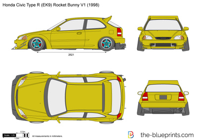 Honda Civic Type R (EK9) Rocket Bunny V1