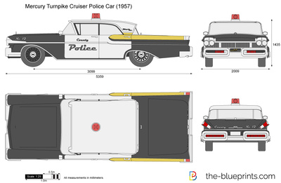 Mercury Turnpike Cruiser Police Car