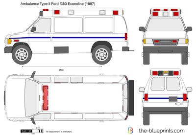 Ambulance Type ll Ford f350 Econoline (1997)
