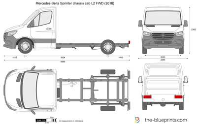 Mercedes-Benz Sprinter chassis cab L2 FWD
