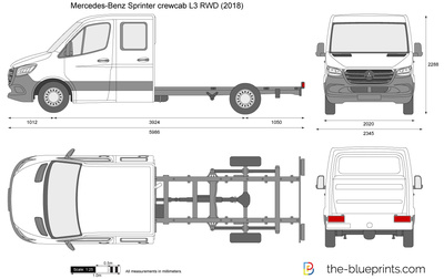 Mercedes-Benz Sprinter crewcab L3 RWD