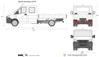 Gazelle Next tipper Double Cab Long