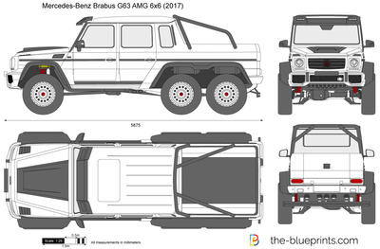 Mercedes-Benz Brabus G63 AMG 6x6