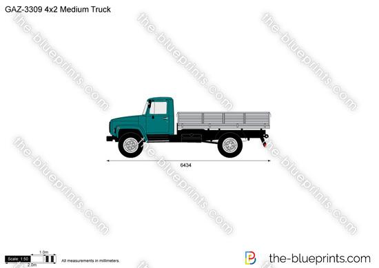 GAZ-3309 4x2 Medium Truck