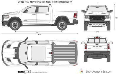 Dodge RAM 1500 CrewCab 5 feet 7 inch box Rebel