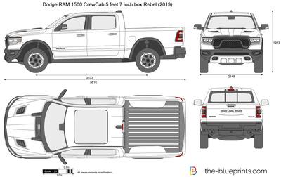 Dodge RAM 1500 CrewCab 5 feet 7 inch box Rebel