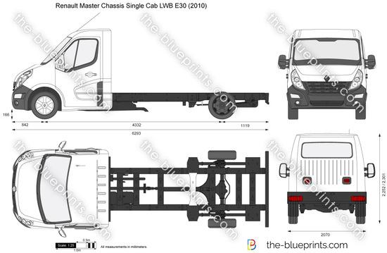 Renault Master Chassis Single Cab LWB E30